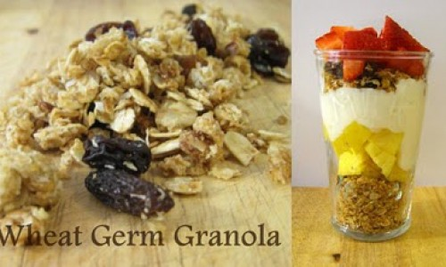 <h2><a href='http://www.gigicakes.net/wheat-germ-granola/'>Wheat Germ Granola</a></h2>At times I am amazed at the prices grocery stores charge for certain types of food. For example, on one recent shopping trip, I picked up a tub of yogurt
